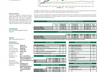 Manulife Investment HW Shariah Flexi Fund Report August 2019